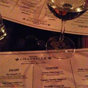 Hotel Chantelle menu